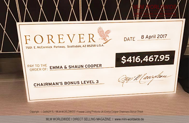 Forever-Living-Products-UK-Emma-Cooper-Chairmans-Bonus-Check