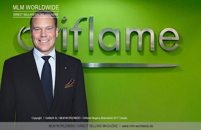 Oriflame Umsatz 2017 I CEO Magnus Brännström-2017-Umsatz