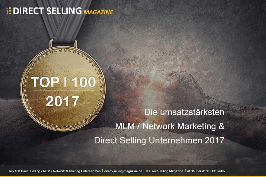 DSN 100 2017 - Das Magazin Direct Selling News hat die Top 100 Direct Selling, MLM / Network Marketing Unternehmen für das Jahr 2017 veröffentlicht