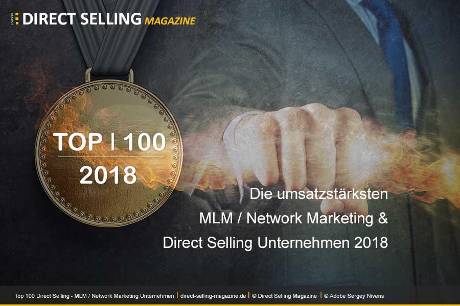 DSN 100 2018 - Das Magazin Direct Selling News hat die Top 100 Direct Selling, MLM / Network Marketing Unternehmen für das Jahr 2018veröffentlicht