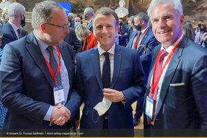 Treffen zwischen Frankreichs Präsidenten Macron und Dr. Thomas Stoffmehl
