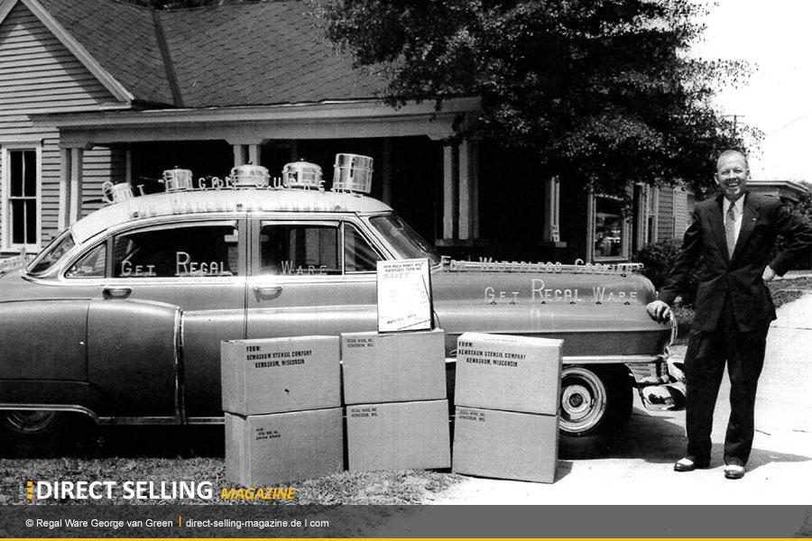 George van Green war 1948 erster Verkäufer von Regal Ware, mit Kundenumsatz von einer Million US-Dollar